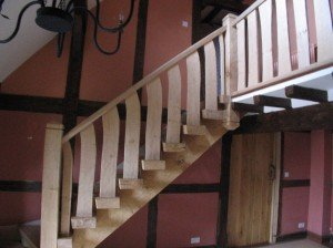 Green Oak Staircase