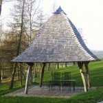 Oak Gazebo with Oak Shingle Roof