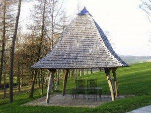 Oak Gazebo with Oak Shingle Roof