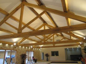 Ten metre span King Post Truss for swimming pool