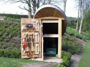 Bespoke Garden Lawn Mower Shelter
