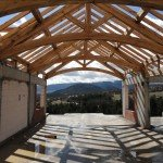 Arched Oak King Post Trusses