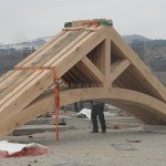 King Post Trusses with arched tie beam arriving in Turkey