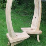 Solid oak loveseat