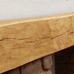 Band sawn oak fireplace beam